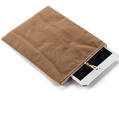 Housse Pochette Velour Tissu pour Huawei MediaPad M5 Lite 10.1 Marron