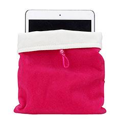 Housse Pochette Velour Tissu pour Huawei MediaPad M6 10.8 Rose Rouge