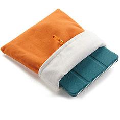 Housse Pochette Velour Tissu pour Huawei Mediapad X1 Orange