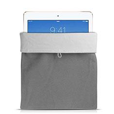 Housse Pochette Velour Tissu pour Huawei MediaPad X2 Gris