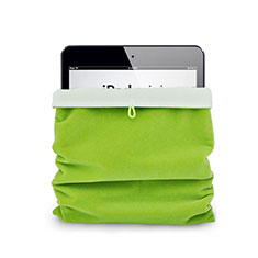Housse Pochette Velour Tissu pour Huawei MediaPad X2 Vert