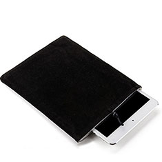 Housse Pochette Velour Tissu pour Samsung Galaxy Tab A 9.7 T550 T555 Noir