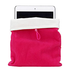 Housse Pochette Velour Tissu pour Samsung Galaxy Tab A6 10.1 SM-T580 SM-T585 Rose Rouge