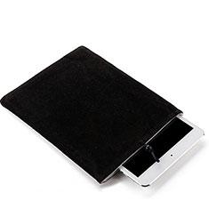Housse Pochette Velour Tissu pour Samsung Galaxy Tab S6 Lite 4G 10.4 SM-P615 Noir