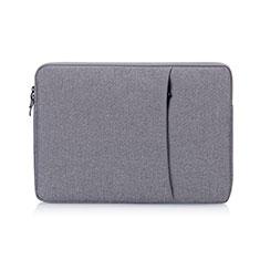 Housse Pochette Velour Tissu S01 pour Samsung Galaxy Book Flex 15.6 NP950QCG Gris