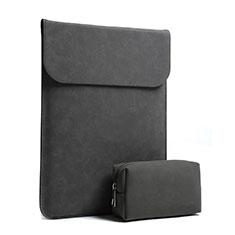 Housse Pochette Velour Tissu S02 pour Huawei Matebook D14 (2020) Noir