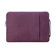 Housse Pochette Velour Tissu S02 pour Samsung Galaxy Book Flex 13.3 NP930QCG Violet
