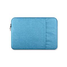 Housse Pochette Velour Tissu S03 pour Huawei Honor MagicBook Pro (2020) 16.1 Bleu Ciel