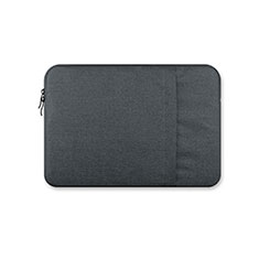 Housse Pochette Velour Tissu S03 pour Huawei Honor MagicBook Pro (2020) 16.1 Gris Fonce