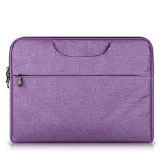 Housse Pochette Velour Tissu S03 pour Huawei Matebook X Pro (2020) 13.9 Violet