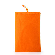 Housse Pochette Velour Tissu Universel pour Huawei Honor Magic 2 Orange
