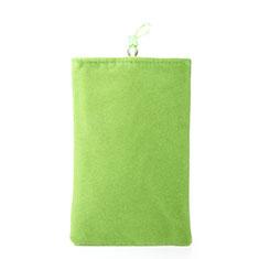 Housse Pochette Velour Tissu Universel pour Nokia X3 Vert