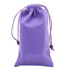 Housse Pochette Velour Universel pour Huawei Honor Magic 2 Violet
