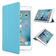 Housse Portefeuille Cuir Mat pour Apple iPad Pro 9.7 Bleu Ciel