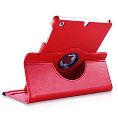 Housse Portefeuille Cuir Rotatif pour Apple iPad Mini Rouge