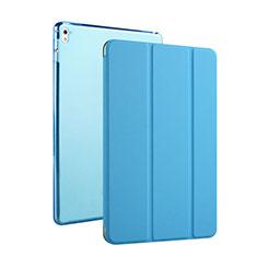 Housse Portefeuille Cuir Stand pour Apple iPad Pro 9.7 Bleu Ciel