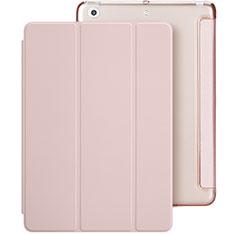 Housse Portefeuille Livre Cuir L01 pour Apple New iPad 9.7 (2017) Rose