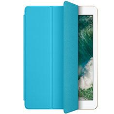 Housse Portefeuille Livre Cuir L01 pour Apple New iPad 9.7 (2018) Bleu Ciel