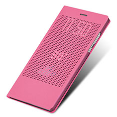 Housse Portefeuille Livre Cuir L01 pour Huawei Honor Note 8 Rose Rouge