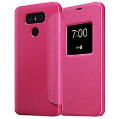 Housse Portefeuille Livre Cuir L01 pour LG G6 Rouge