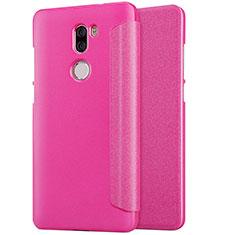 Housse Portefeuille Livre Cuir L01 pour Xiaomi Mi 5S Plus Rose Rouge