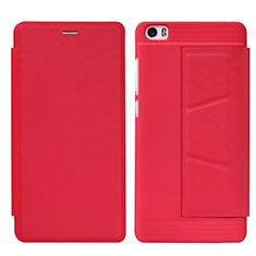 Housse Portefeuille Livre Cuir L01 pour Xiaomi Mi Note Rouge