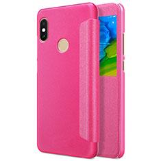 Housse Portefeuille Livre Cuir L01 pour Xiaomi Redmi Note 5 Rouge