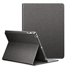 Housse Portefeuille Livre Cuir L02 pour Apple iPad 3 Noir