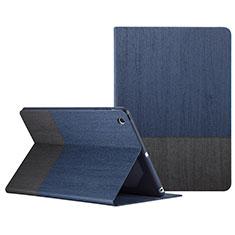 Housse Portefeuille Livre Cuir L02 pour Apple iPad Mini 3 Bleu