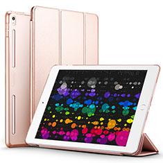 Housse Portefeuille Livre Cuir L02 pour Apple iPad Pro 10.5 Or Rose