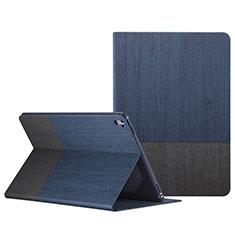 Housse Portefeuille Livre Cuir L02 pour Apple iPad Pro 9.7 Bleu