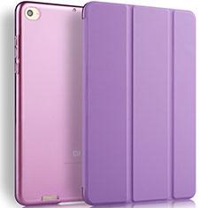 Housse Portefeuille Livre Cuir L02 pour Xiaomi Mi Pad 3 Violet