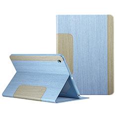 Housse Portefeuille Livre Cuir L03 pour Apple iPad Mini Bleu Ciel