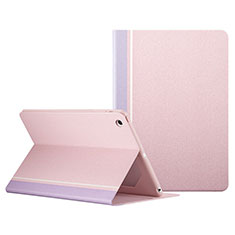 Housse Portefeuille Livre Cuir L03 pour Apple iPad Mini Rose