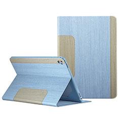 Housse Portefeuille Livre Cuir L03 pour Apple iPad Pro 9.7 Bleu Ciel