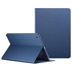 Housse Portefeuille Livre Cuir L04 pour Apple iPad Mini 3 Bleu