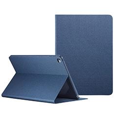 Housse Portefeuille Livre Cuir L04 pour Apple iPad Mini 4 Bleu
