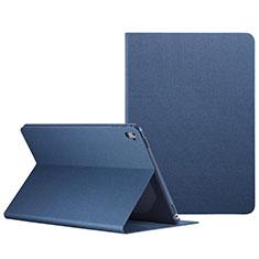 Housse Portefeuille Livre Cuir L04 pour Apple iPad Pro 9.7 Bleu
