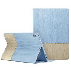 Housse Portefeuille Livre Cuir L06 pour Apple iPad Pro 10.5 Bleu Ciel