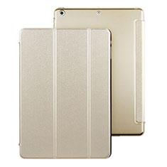Housse Portefeuille Livre Cuir pour Apple iPad Air Or