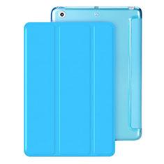 Housse Portefeuille Livre Cuir pour Apple iPad Mini 3 Bleu Ciel