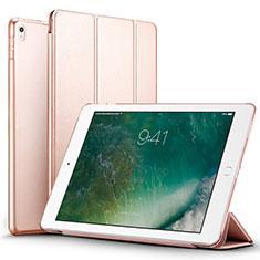 Housse Portefeuille Livre Cuir pour Apple iPad Pro 12.9 (2017) Or Rose
