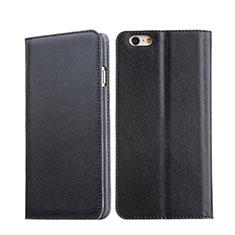 Housse Portefeuille Livre Cuir pour Apple iPhone 6 Noir
