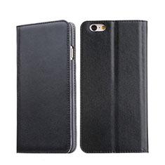 Housse Portefeuille Livre Cuir pour Apple iPhone 6 Plus Noir