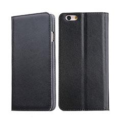 Housse Portefeuille Livre Cuir pour Apple iPhone 6S Noir