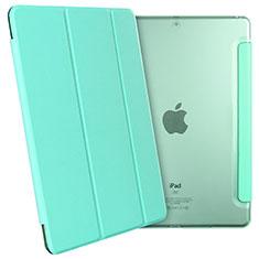 Housse Portefeuille Livre Cuir pour Apple New iPad 9.7 (2017) Vert