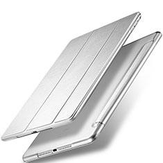 Housse Portefeuille Livre Cuir pour Apple New iPad 9.7 (2018) Argent