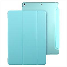 Housse Portefeuille Livre Cuir pour Apple New iPad 9.7 (2018) Bleu Ciel