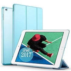 Housse Portefeuille Livre Cuir pour Apple New iPad Pro 9.7 (2017) Bleu Ciel