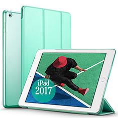 Housse Portefeuille Livre Cuir pour Apple New iPad Pro 9.7 (2017) Vert